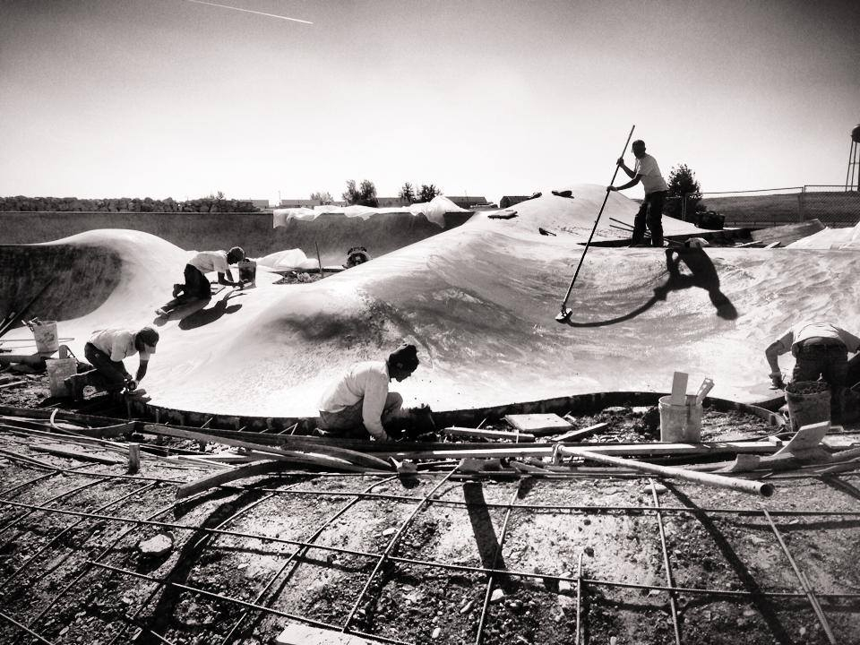 Skateboarders / Craftsmen at work