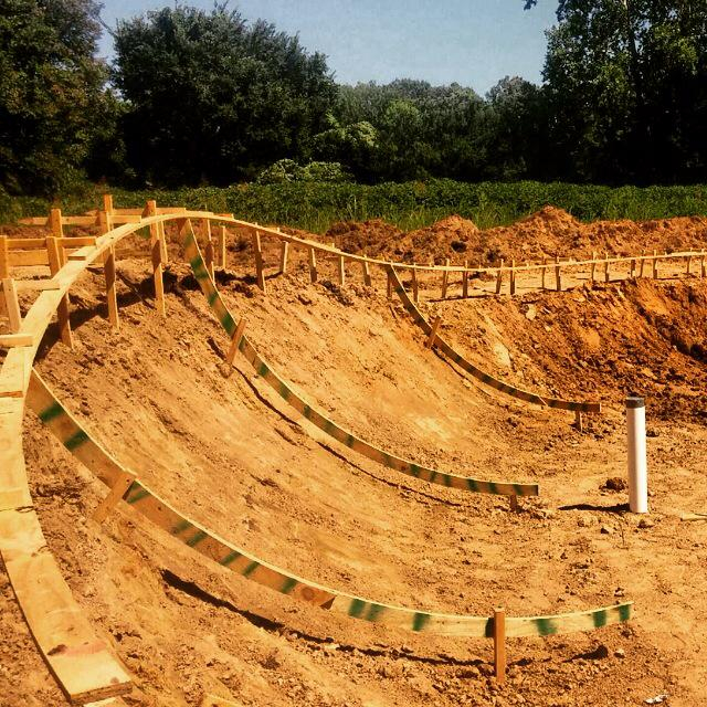 Skatepark construction begins in Hernando, Mississippi