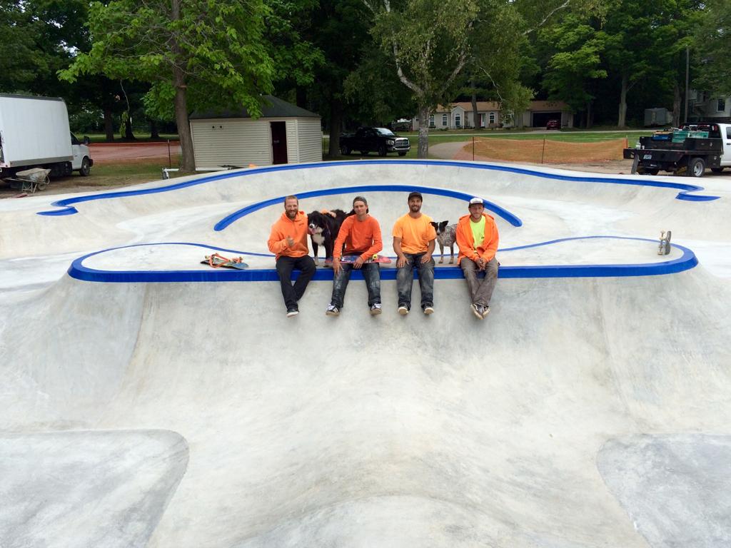 Frankfort Skatepark crew from left: