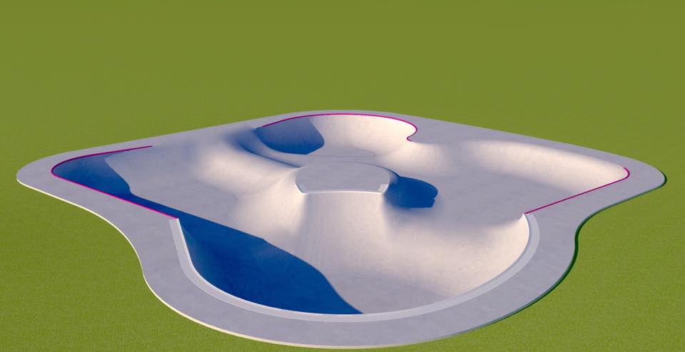 Montana Pool Service Design rendering for the Darby Skatepark