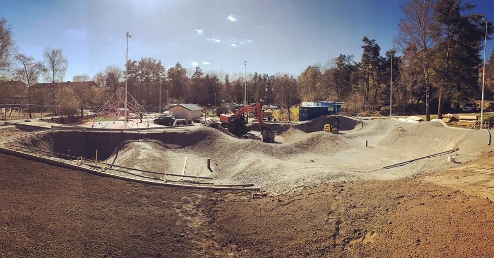 Skatepark Construction in Stockholm, Sweden