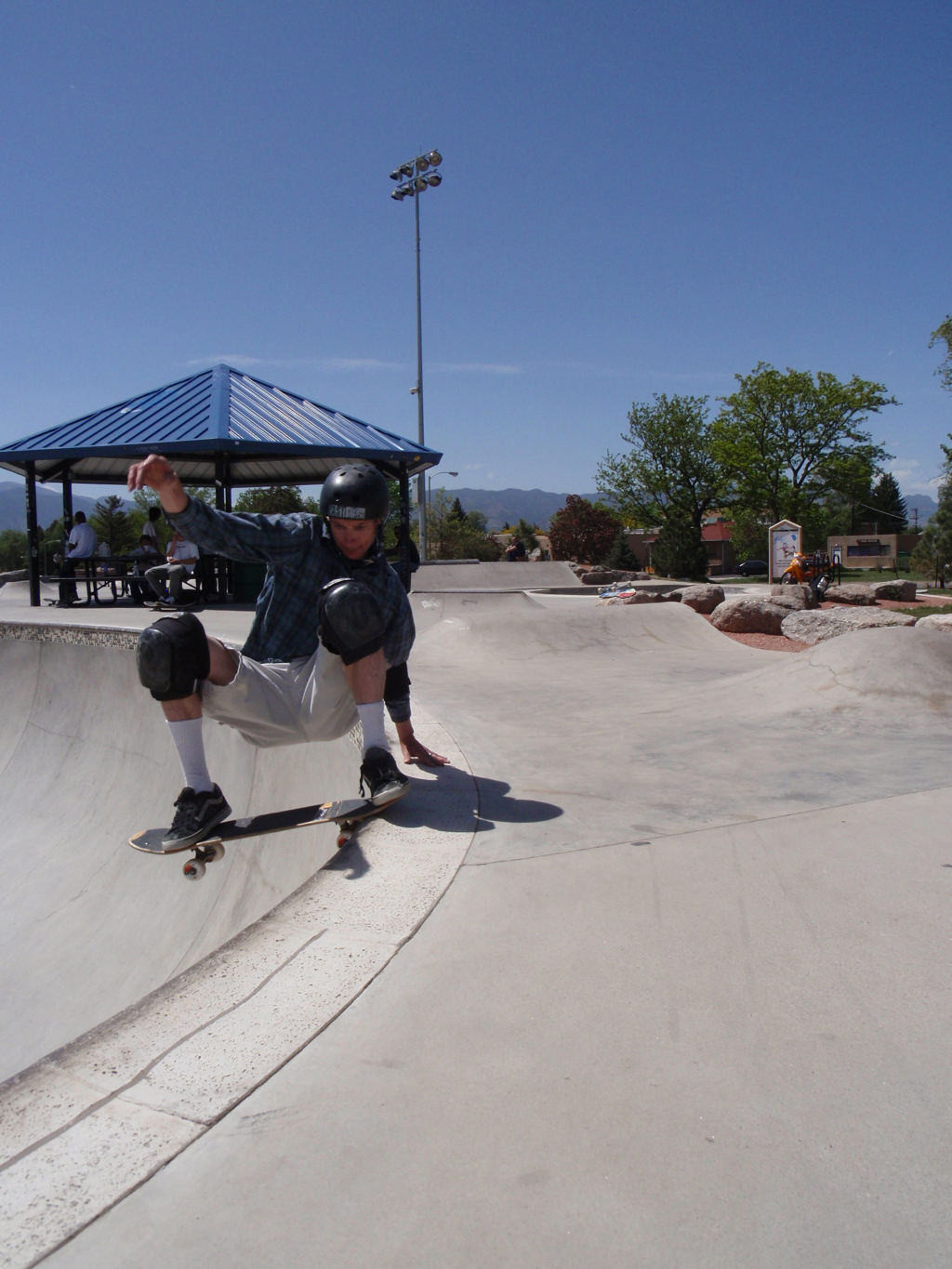 Lance ripping at Memorial Skatepark in Colorado Springs
