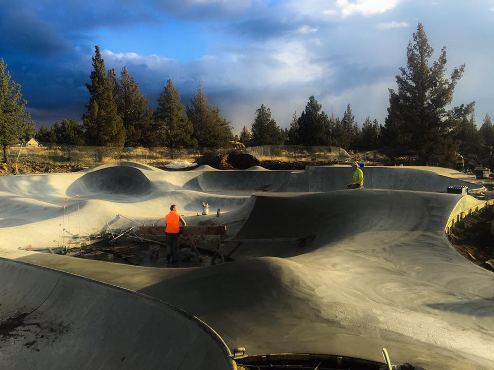 Rockridge Skatepark construction