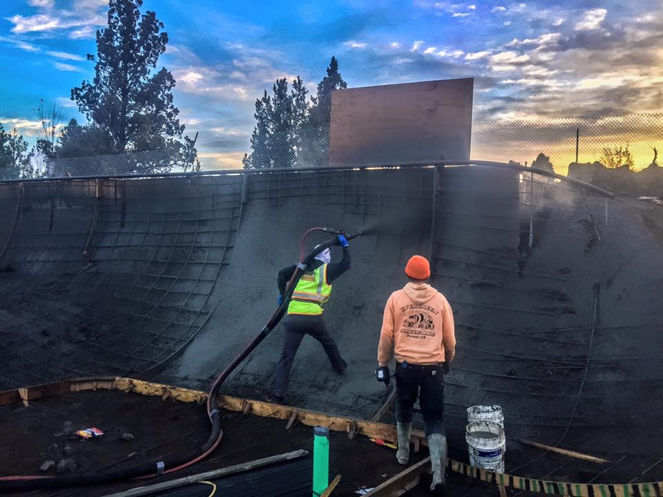 Shotcrete at Rockridge Skatepark