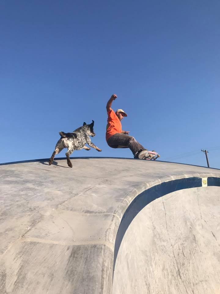 Ben Hlavacek gets some grinds on the paraboloid