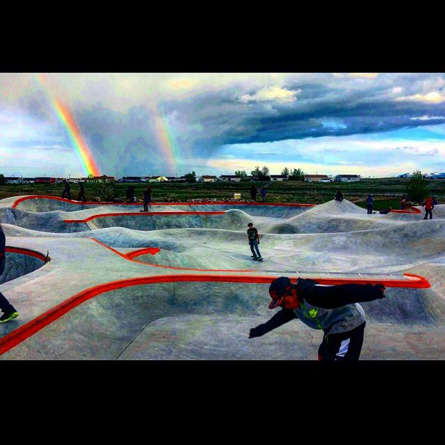 Double rainbow at the Thunder Park