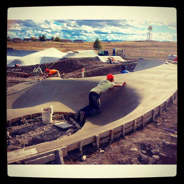 Richie Conklin smoothing it out at the Blackfeet Skatepark