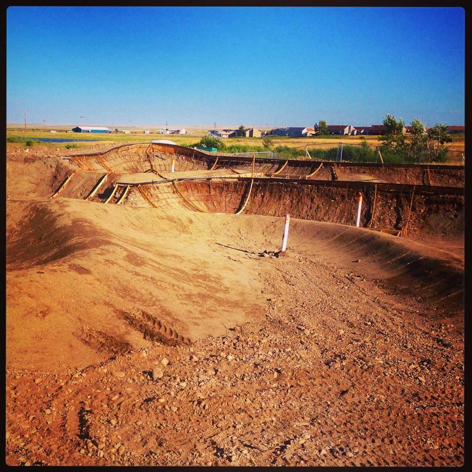 Dirt work & shapes at the Thunder Park