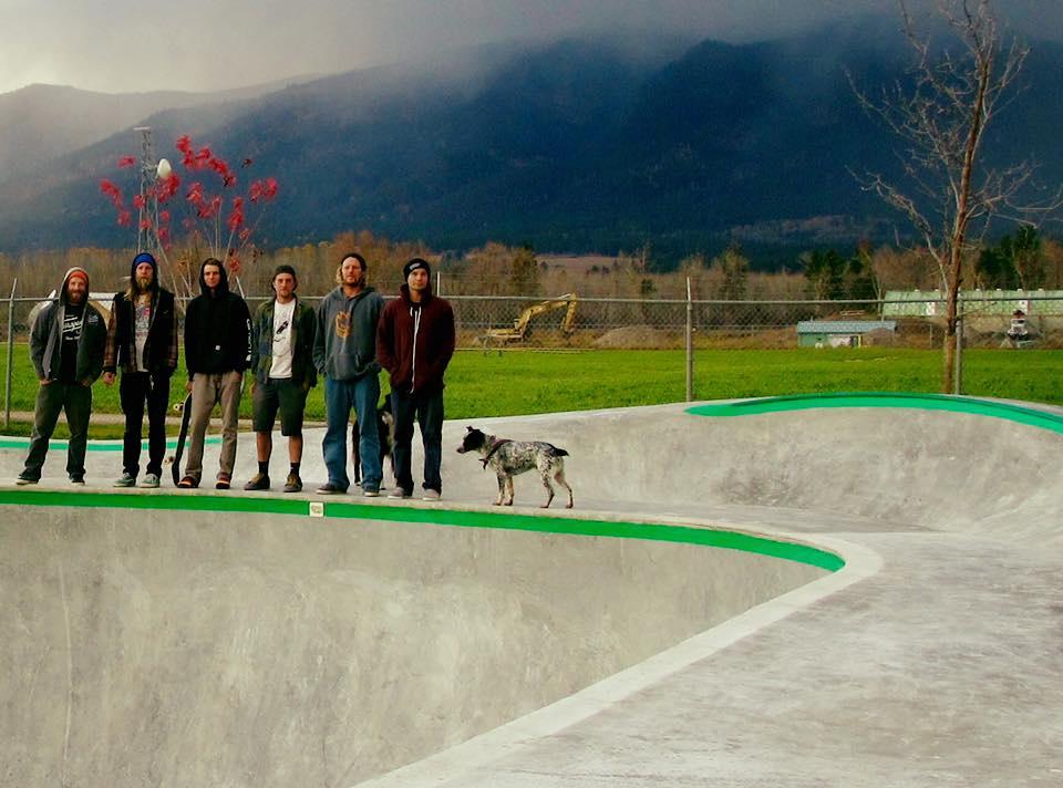 Stevensville, Montana skatepark crew