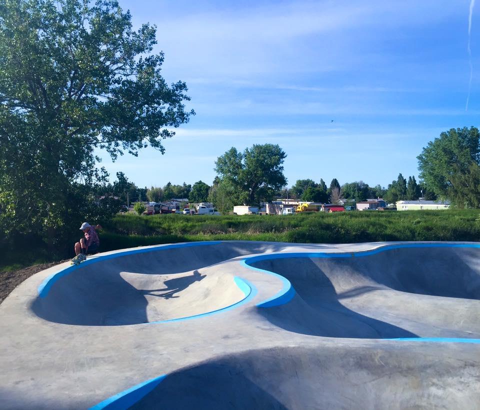 Crew member Keith Powers rips the Malta, Montana skatepark