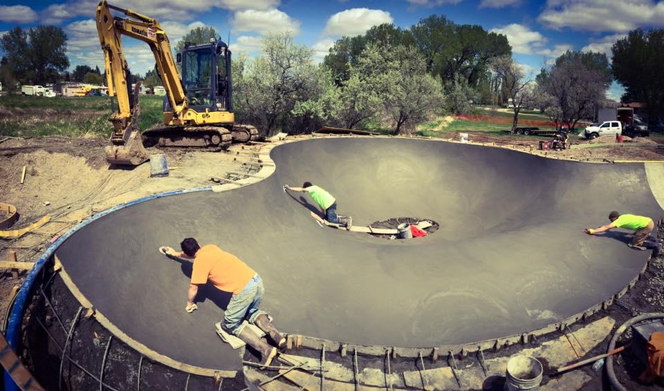 Malta, Montana Skatepark construction