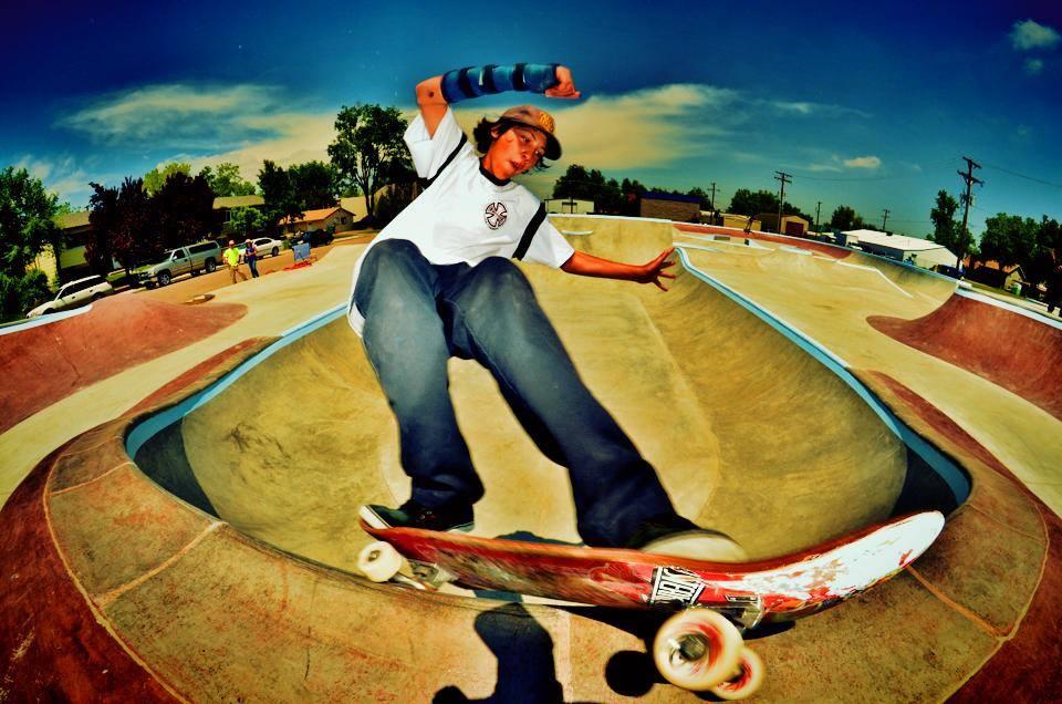 Jaeson frontside feeble at the Milliken, Colorado Skatepark