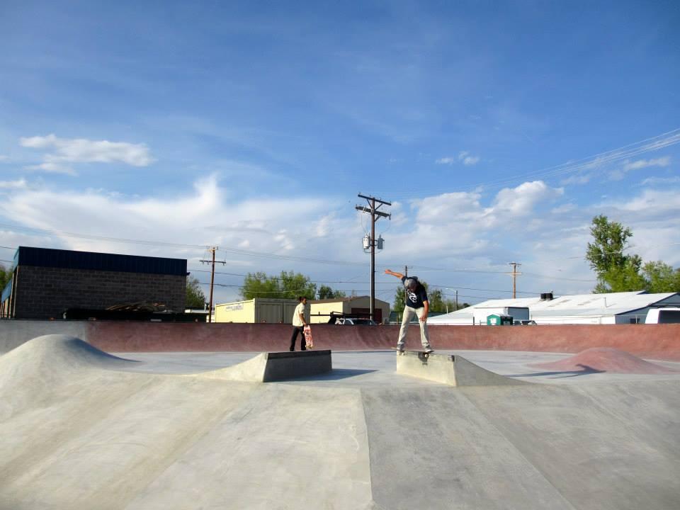 Jesse Clayton backtail at the Milliken, Colorado Skatepark