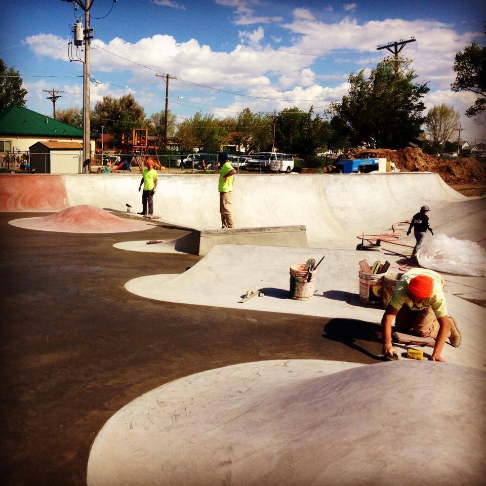 Milliken, Colorado Skatepark flat pour