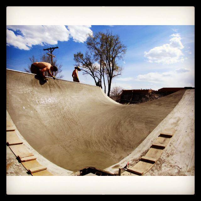 Richie Conklin & Jesse Clayton smooth it out at the Milliken, Colorado Skatepark