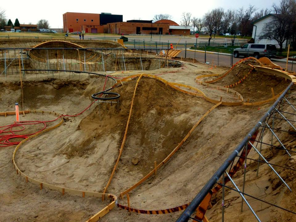 Milliken, Colorado Skatepark construction