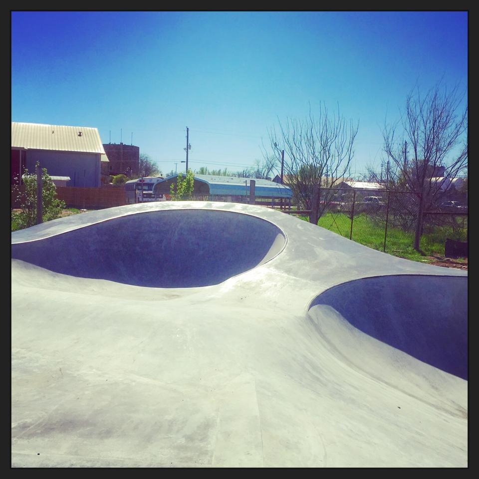 Skate shapes at the Fredericksburg, Texas Skatepark