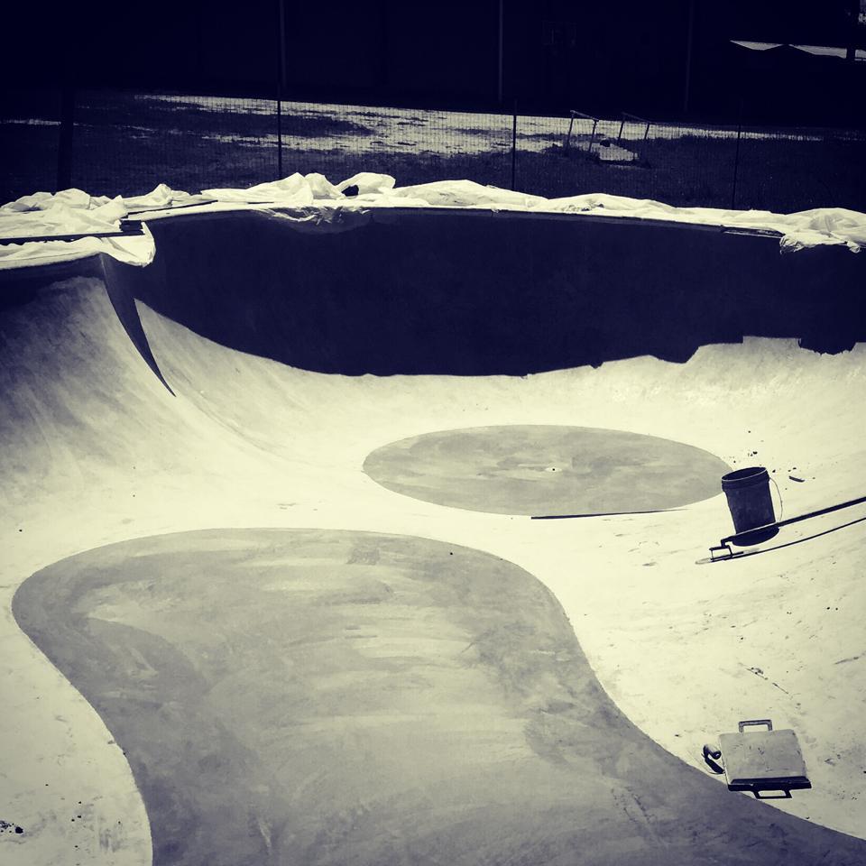 Flat pours at Fredericksburg, Texas Skatepark