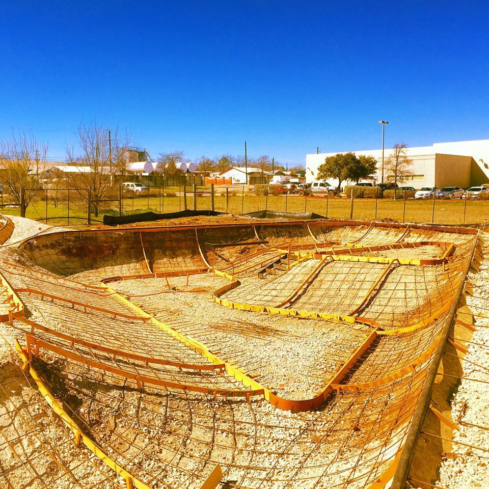Fredericksburg, Texas Skatepark construction site