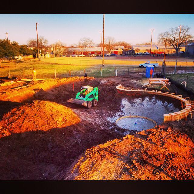 Fredericksburg, Texas Skatepark - biggest pump bump yet!