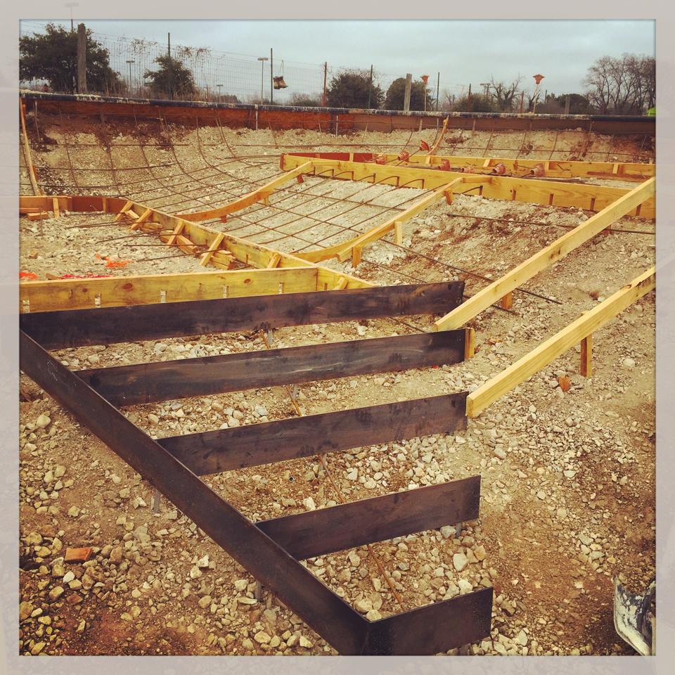 Fredericksburg, Texas Skatepark coming together one step at a time