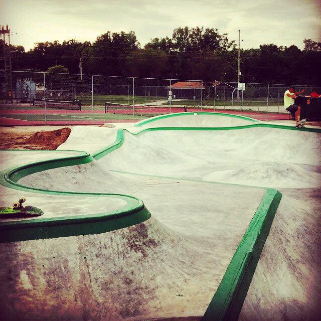 Billy Coulon with a 5'0 at the Belding, Michigan Skatepark