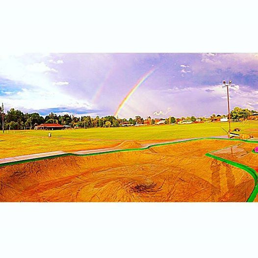 Double rainbow at the Belding, Michigan Skatepark