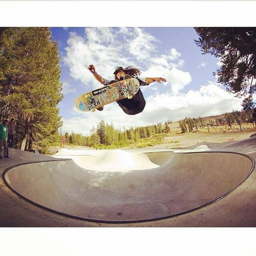 Cody Lockwood blasting at the Woodward Tahoe Skatepark