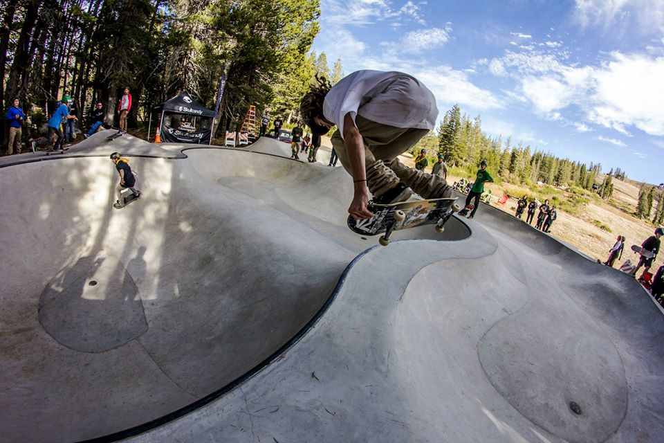 Air over the Woodward Tahoe Skatepark