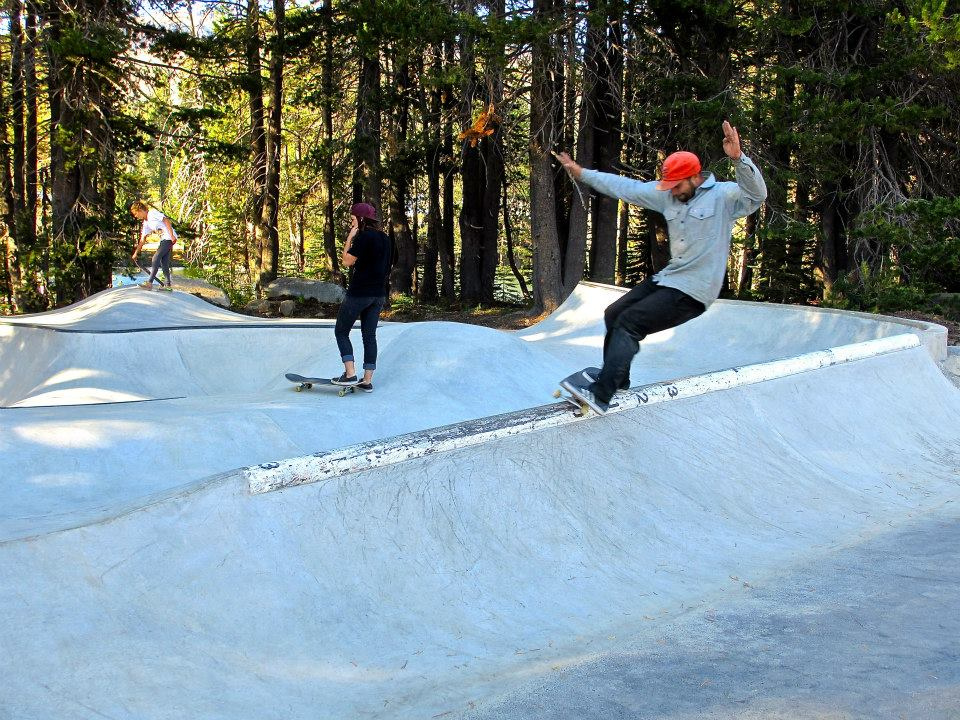 Billy with a hurricane at the Woodward Tahoe skatepark