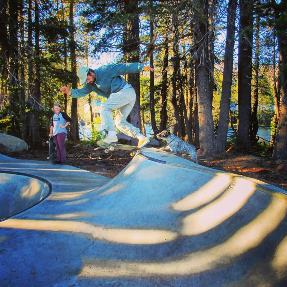 Michael Walty tailslide at the Woodward Tahoe Skatepark
