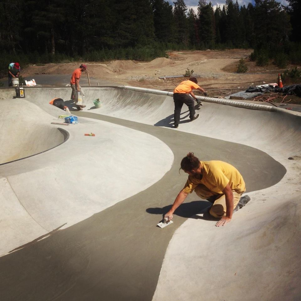 Finishing the Woodward Tahoe Skatepark