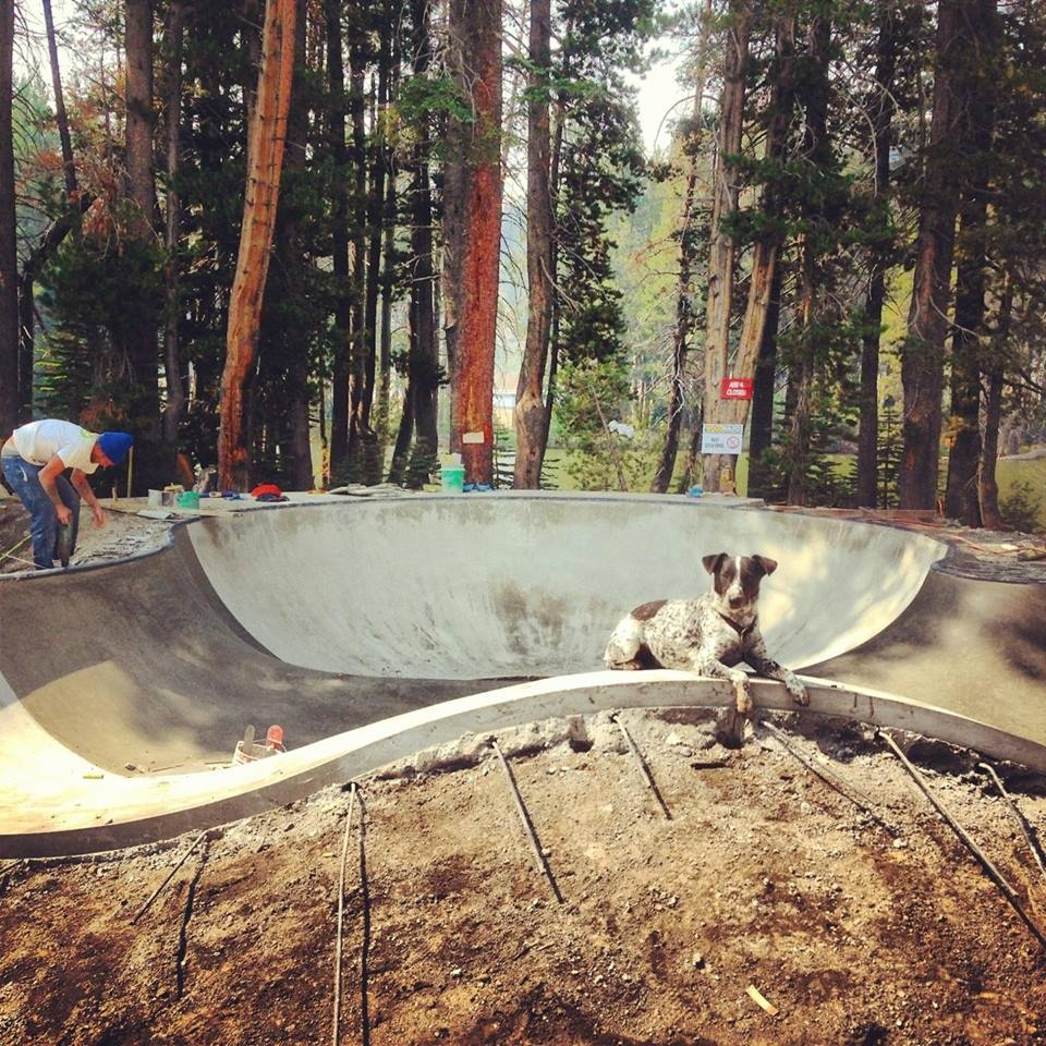 Project Manager Noot inspects the Woodward Tahoe skatepark