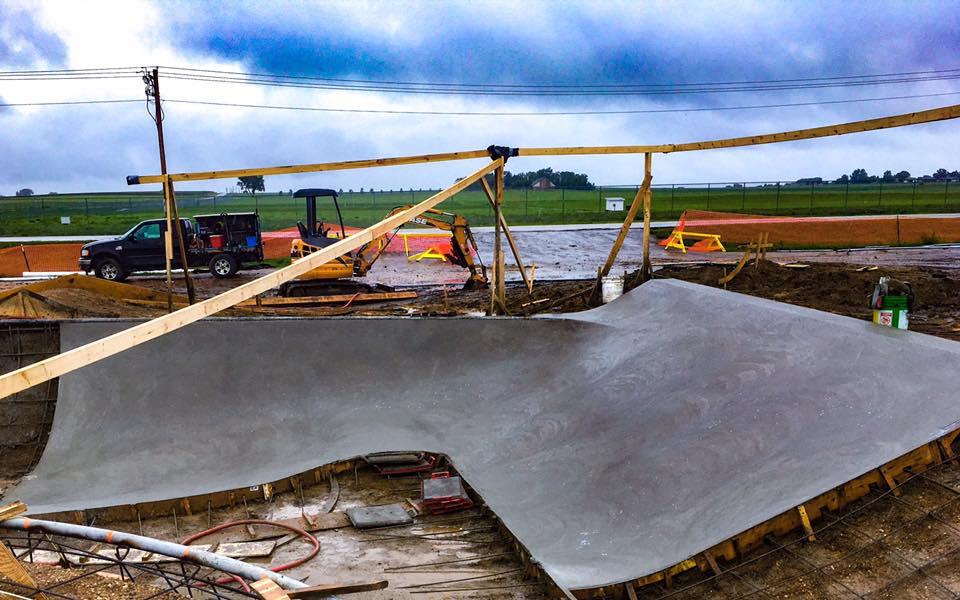 First concrete pour
