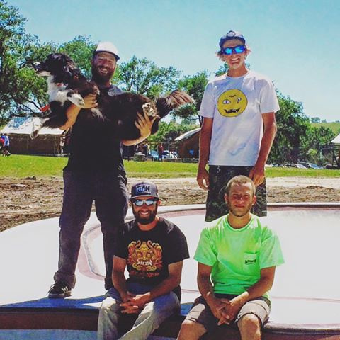 Camp Wood Skatepark crew