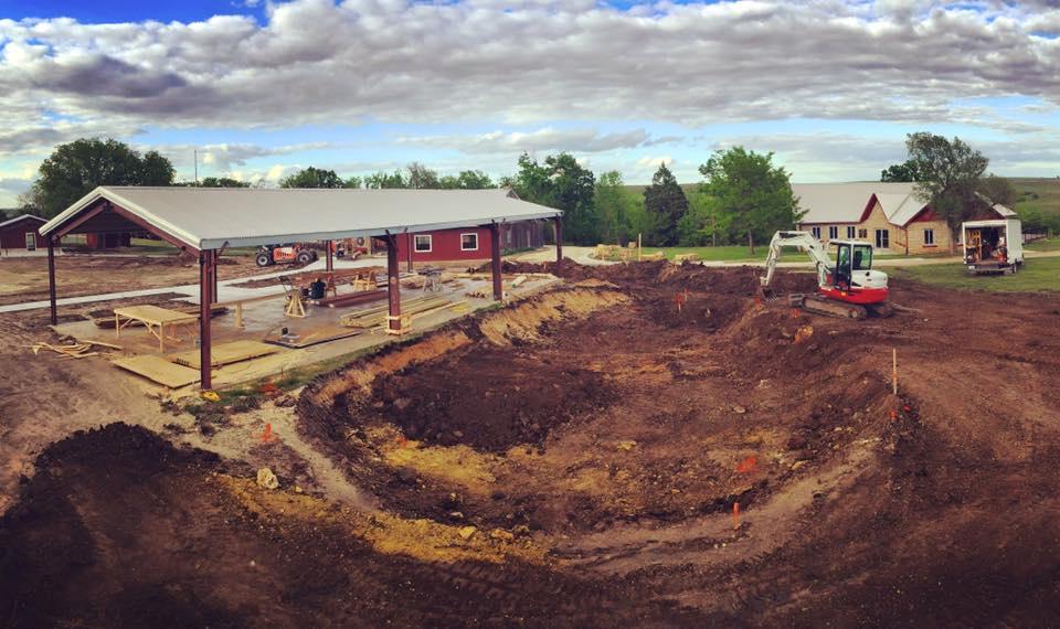 Camp Wood YMCA Skatepark construction