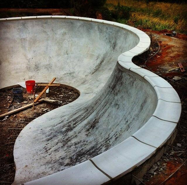 Bowl construction at Epworth Skatepark - Rehoboth Beach, Delaware