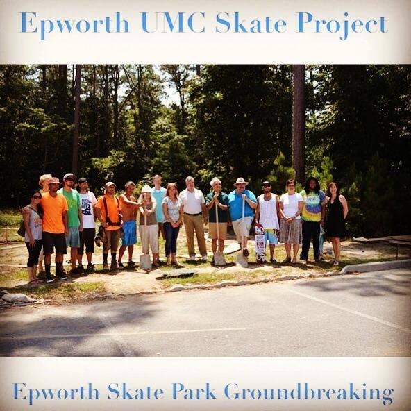 Groundbreaking at the Epworth Skatepark - Rehoboth Beach, Delaware