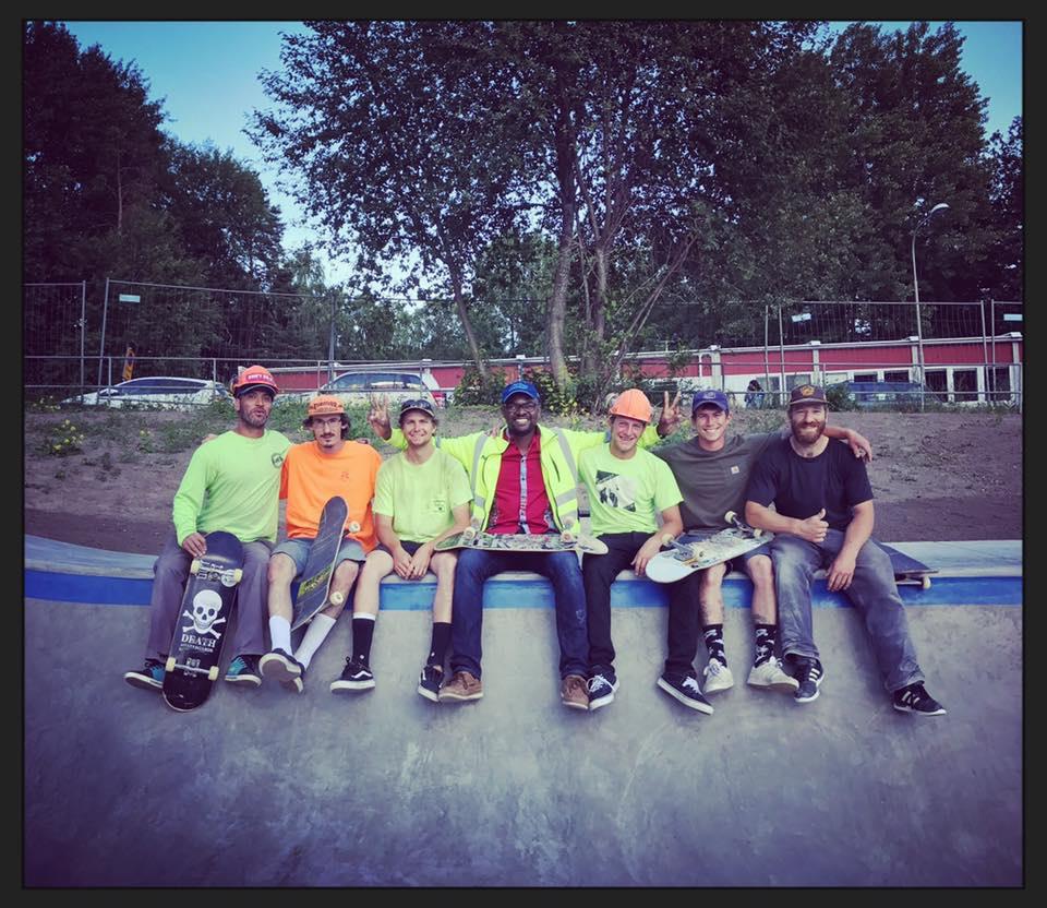 Stockholm, Sweden Skatepark crew
