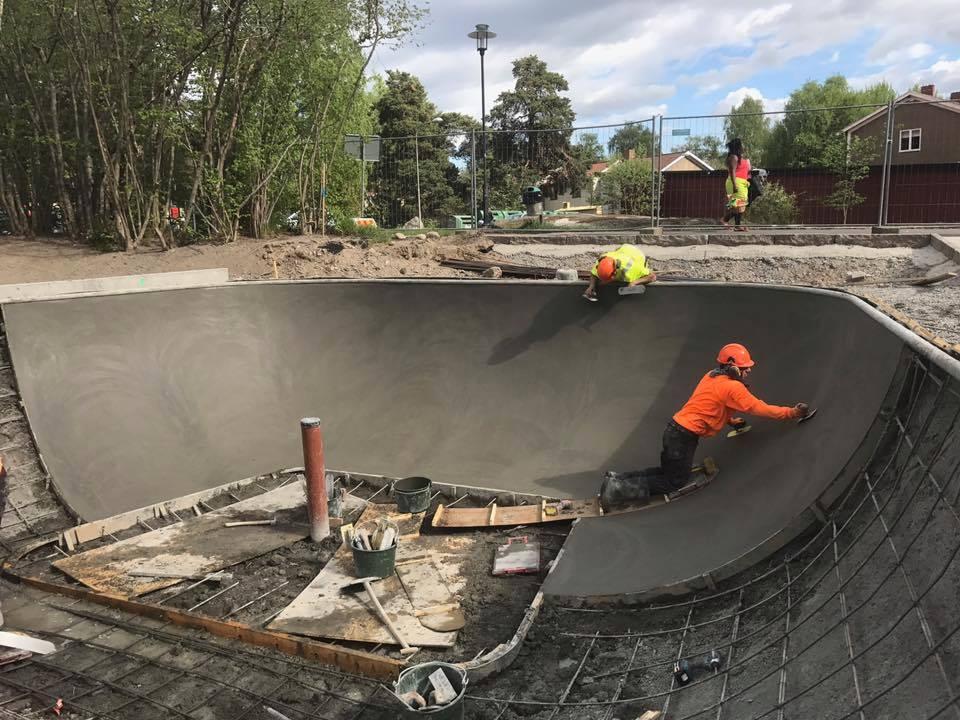 Concrete pour in Stockholm, Sweden