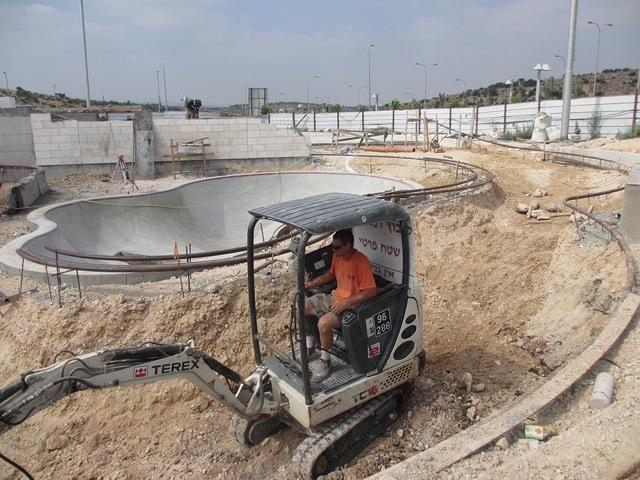 Modi'in, Israel Skatepark construction