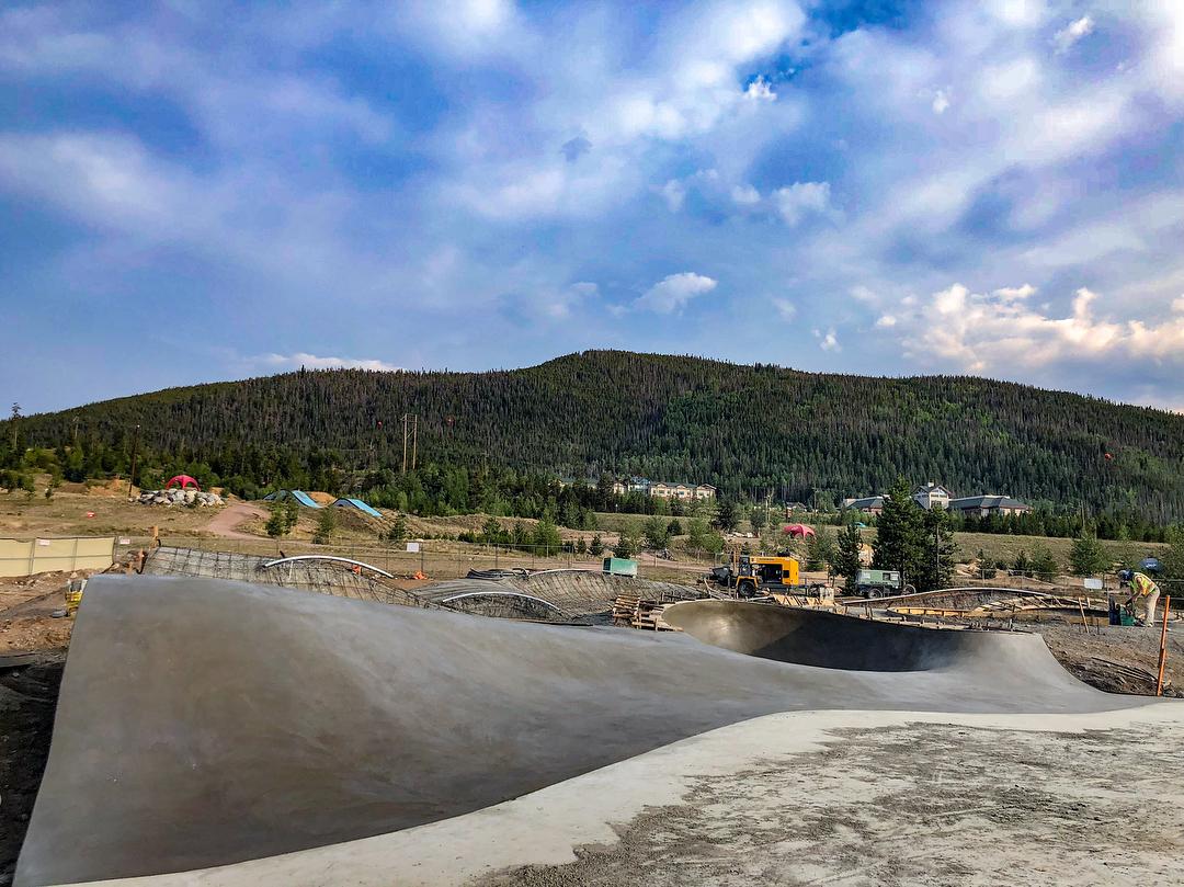 Frisco skatepark concrete pour