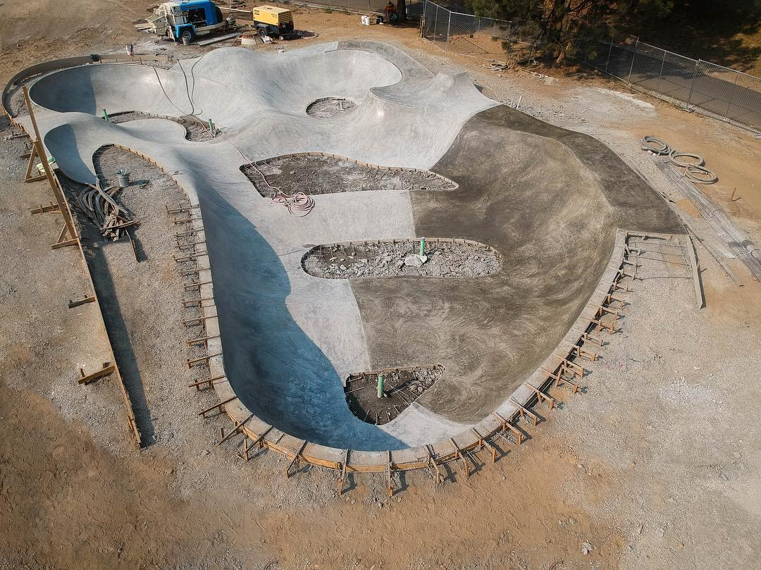 Transition section at the Coeur d'Alene Skatepark 👀👌🏽