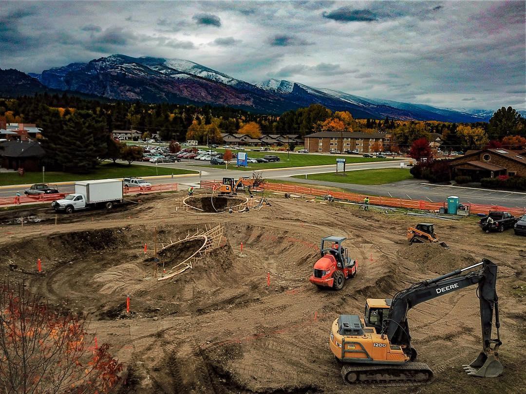 Hamilton, Montana takes shape