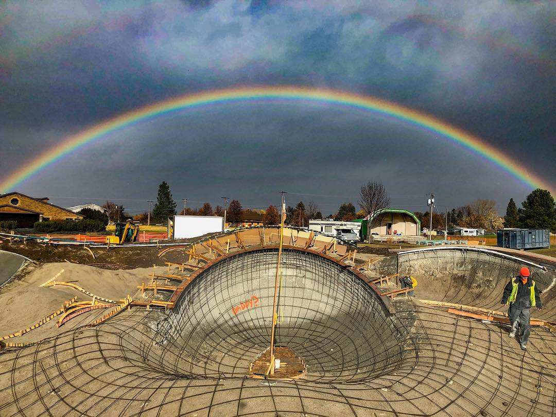 Double Rainbow 🌈 with the #skateboarding pot of gold 💯