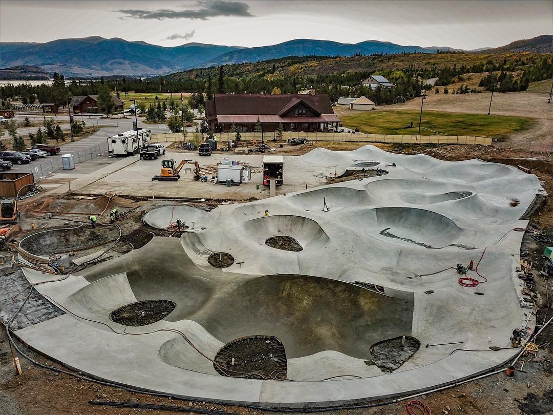 Giant 😳concrete pour in Frisco, Colorado.