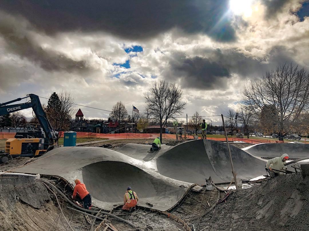 New skateboarding landscapes in Hamilton, Montana.