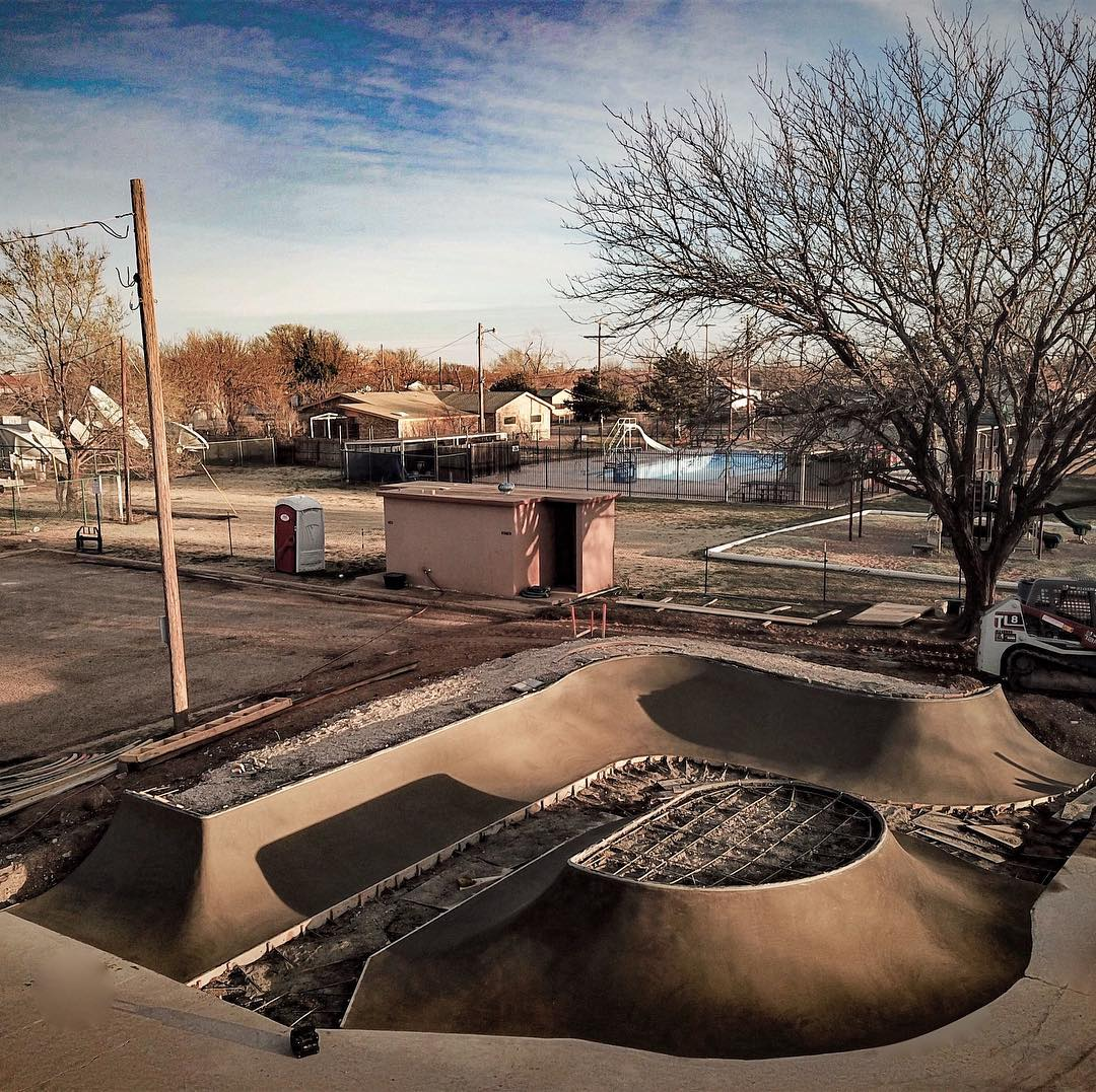Idalou, Texas is another great example of #skateparkrecycling