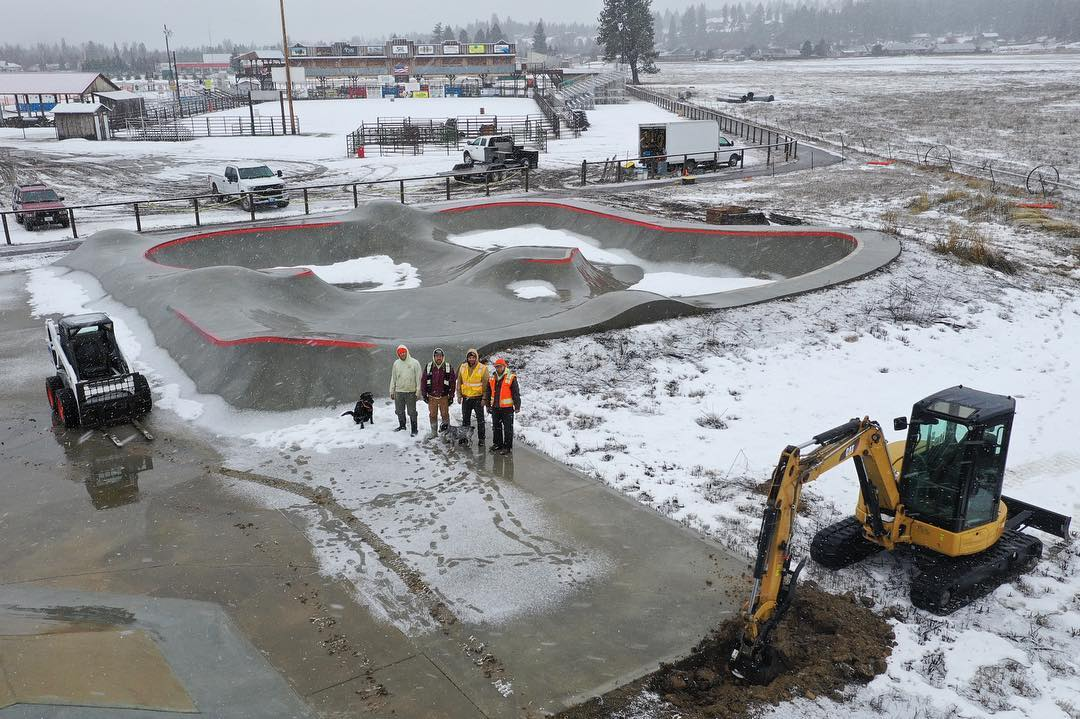 The Darby, Montana skatepark is getting an addition courtesy of @mtskateparkassociation 🙌🏽 a little snow won't stop us.