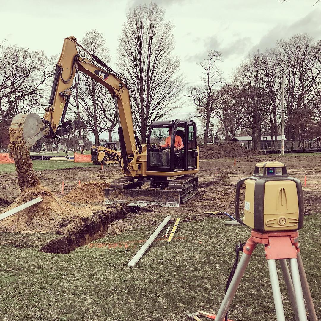 We broke ground this week on the Ferndale, Michigan Skatepark 💪🏽🚜